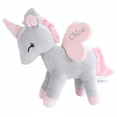 Metoo Unicorn - grey/pink